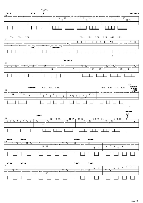 jerryc 卡农摇滚版吉他谱