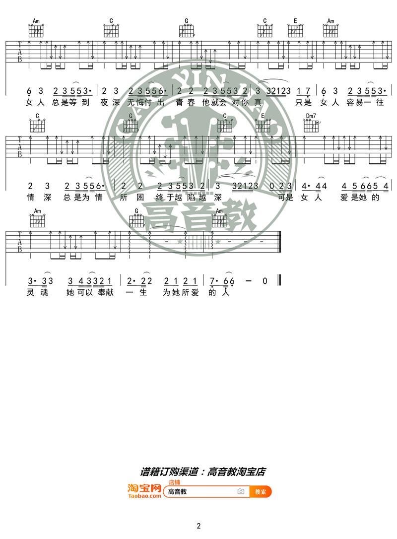 《问 C调入门版 抖音热曲》吉他谱-C大调音乐网