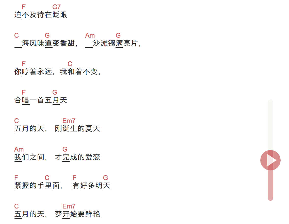 「五月天」尤克里里弹唱谱 S.H.E. TODO-C大调音乐网