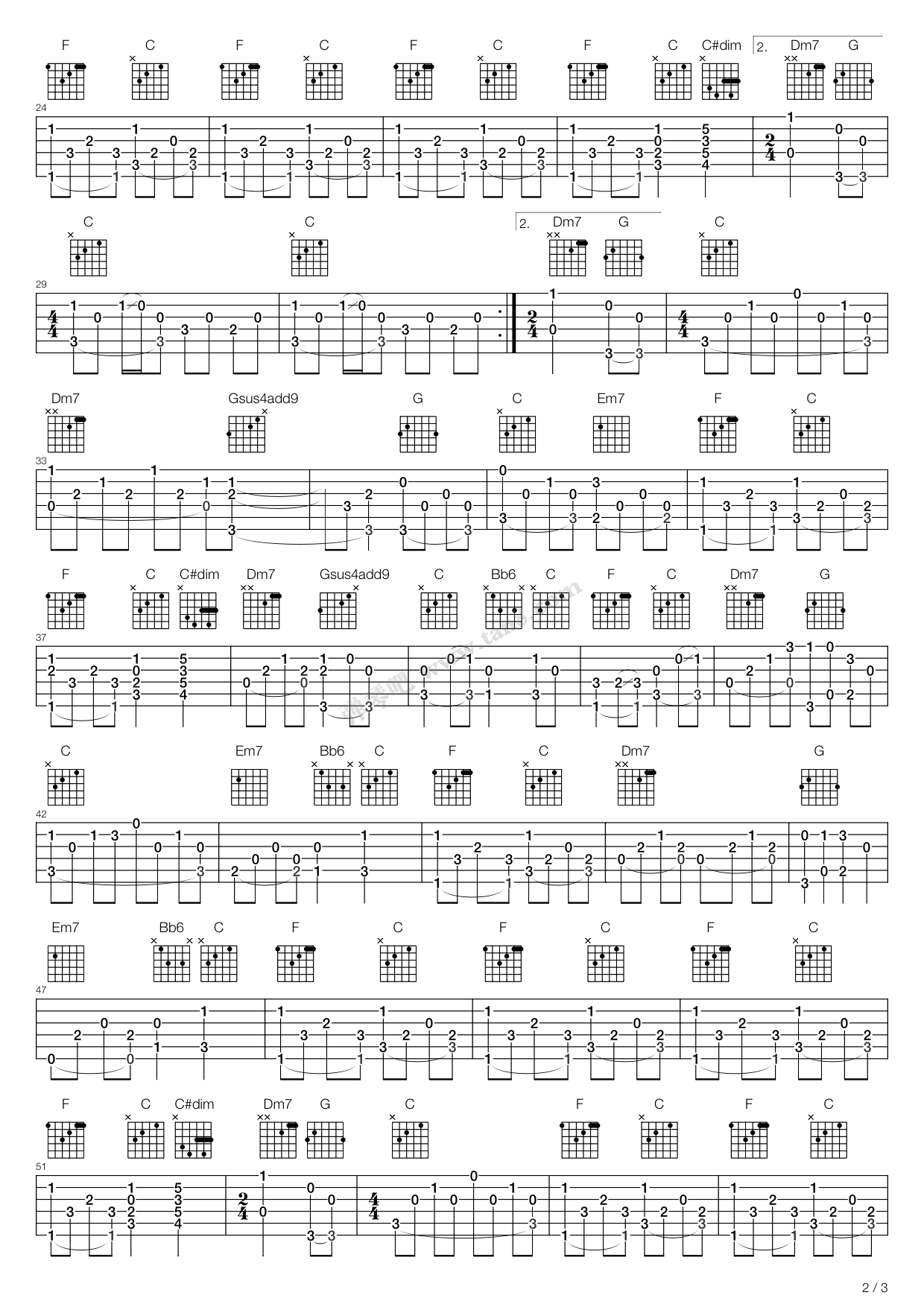 灼眼的夏娜txt_《涙そうそう(泪光闪闪)》吉他谱-C大调音乐网